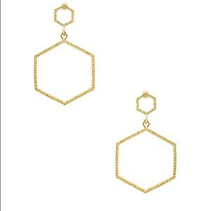 Luv AJ The Hammered Hex Statement Earrings